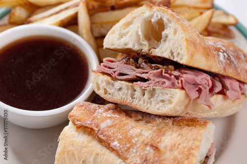 Valokuva  beef dip or french dip