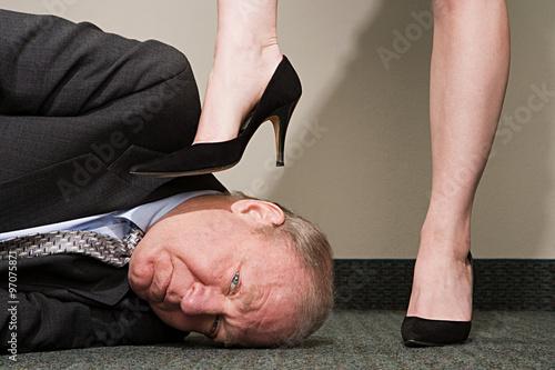 Fotografie, Obraz  Woman dominating businessman