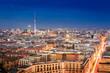 Blick über Berlin bei Nacht