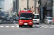 消防車走行シーン