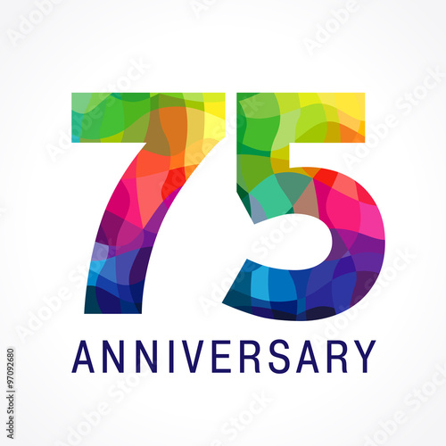 75 anniversary colored logo Poster