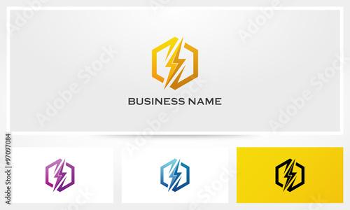 Leinwand Poster Thunder Electric Ligthning Bolt Logo