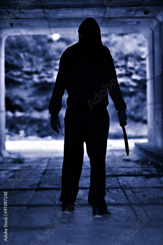 Photo Murderer in the scene of the crime