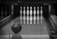 Bowling Pins In The Bowling Cl...