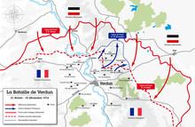 Carte De La Bataille De Verdun - 1916