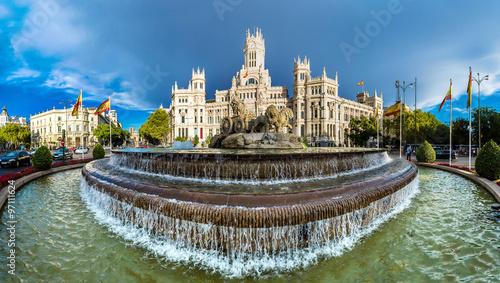 Poster de jardin Madrid Cibeles fountain in Madrid