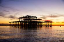 Remains Of Brighton Pier Left ...