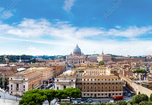 Canvas Prints Rome Rome and Basilica of St. Peter in Vatican