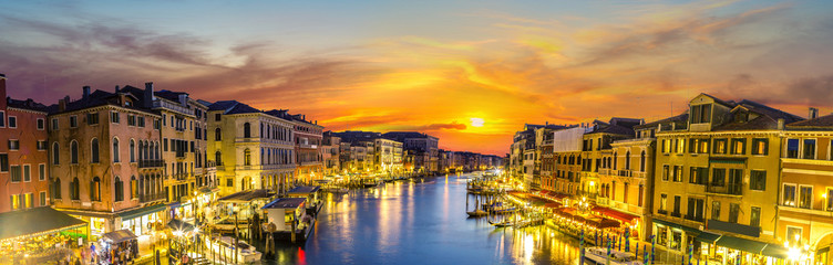 Panel Szklany PodświetlaneCanal Grande in Venice, Italy