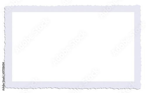 Fotografie, Obraz  cadre photo ancienne bords dentelés avec ombre