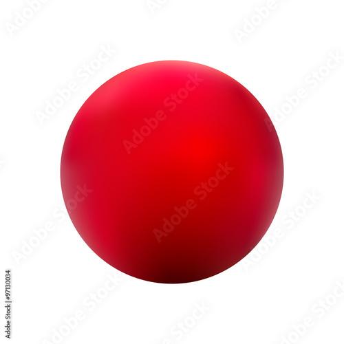 In de dag Bol Red ball gradient vector.