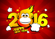 Happy New Year 2016 Card With ...