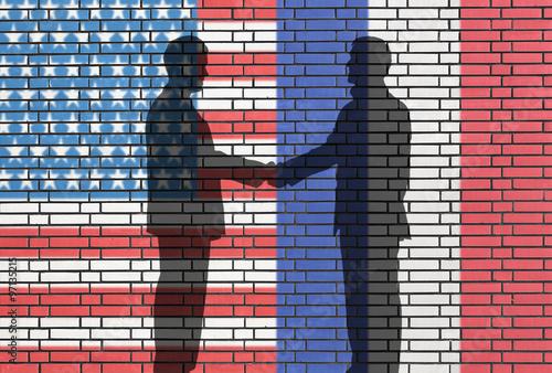 Valokuva  USA - FRANCE business