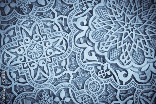 Photo  Arabic decorations detail