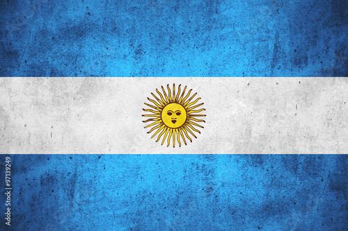 Fotografie, Obraz  flag of Argentina