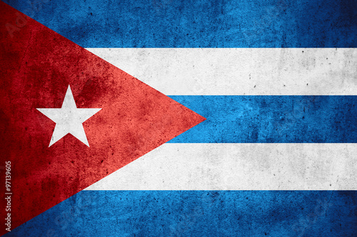flag of Cuba Wallpaper Mural