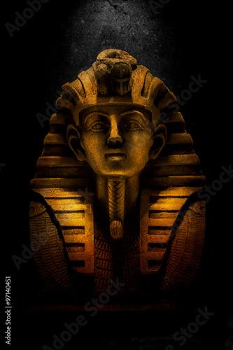 Tuinposter Egypte gold pharaoh tutankhamen mask