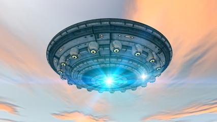 Fototapeta Fantasy 3d futuristic UFO