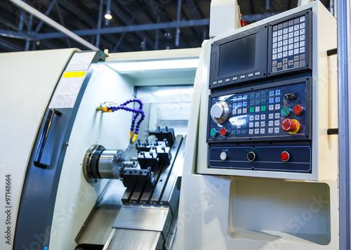 Fotografie, Obraz  machine control panel CNC