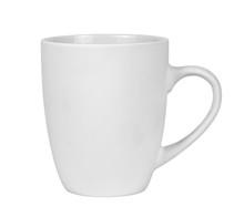 White Mug Isolated On White Ba...