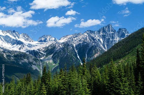 Tuinposter Alpen Mt view from Rogers Pass