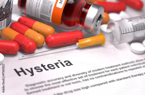 Diagnosis - Hysteria. Medical Concept. Wallpaper Mural
