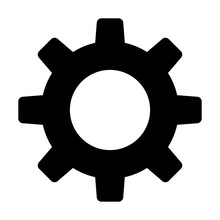Settings Gear / Flat Icon For Apps And Websites