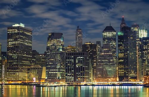 Poster London New York City skyline