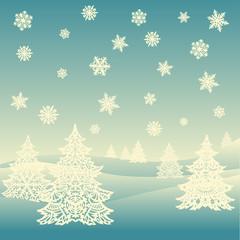 Fototapeta Boże Narodzenie/Nowy Rok Merry Christmas ornament landscape