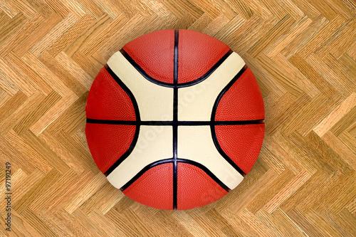 Foto  texture of a basketball ball basketball ball