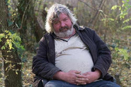 Fotografie, Obraz  drunk homeless man