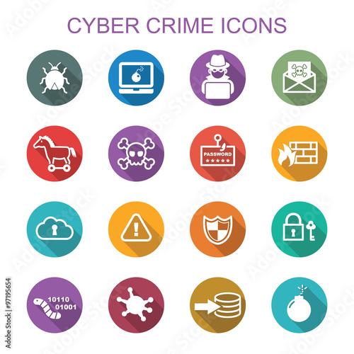 Fotografía  cyber crime long shadow icons