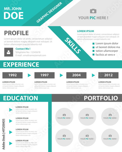 Creative smart resume cv template layout for job application buy creative smart resume cv template layout for job application yelopaper Images