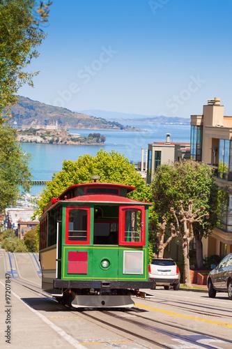 Keuken foto achterwand San Francisco San Francisco tram and beautiful Hyde street