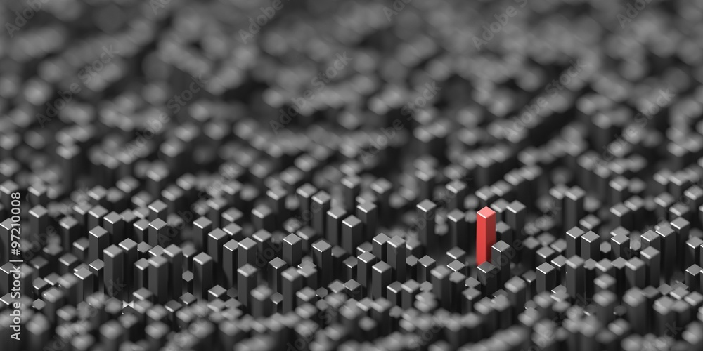 Fototapety, obrazy: Out from the crowd, original 3d conceptual illustration