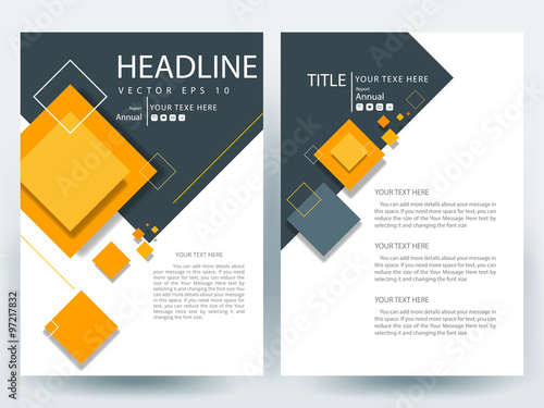 Photo  Abstract vector modern flyers brochure / annual report /design templates / stati