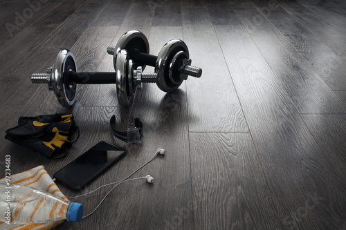 Deurstickers Fitness equipment for fitness