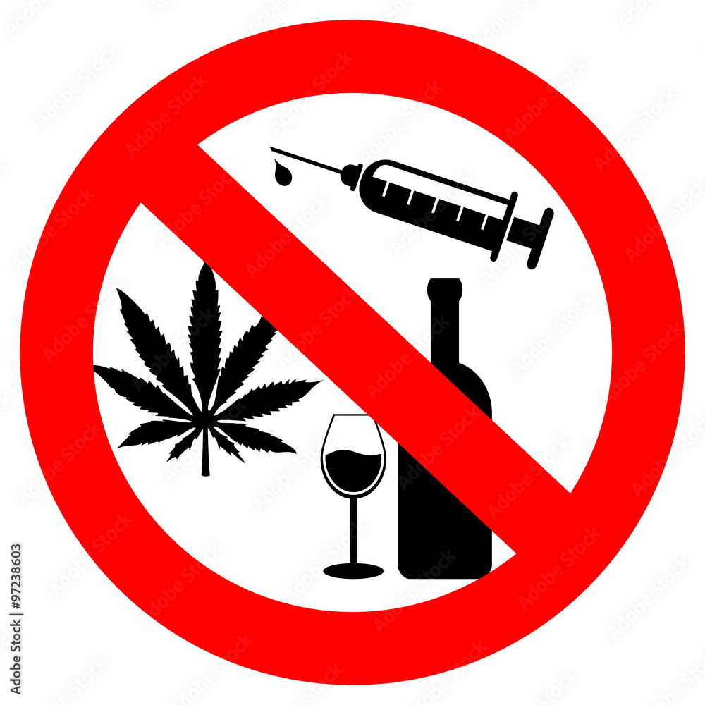 Fototapeta No drugs and alcohol sign