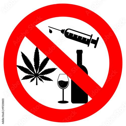 Fototapeta No drugs and alcohol sign obraz