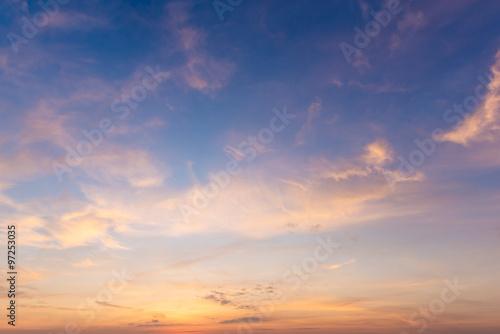 Tuinposter Canarische Eilanden Beautiful Sunrise sky and clouds background