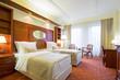 Elegant hotel twin bedroom