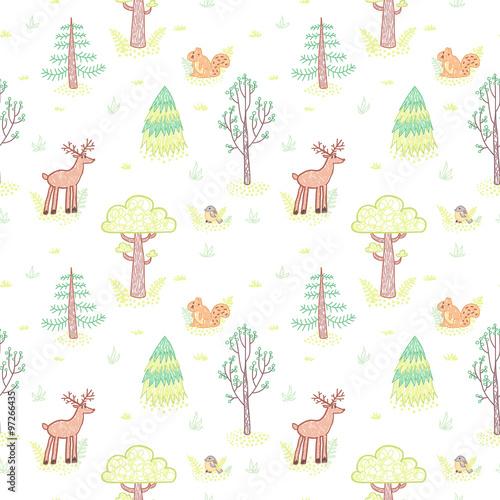 dzieciakow-stylu-rysunku-doodle-drzew-wektorowy