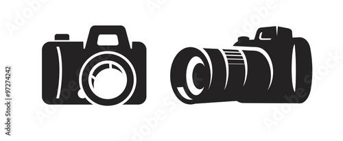Slika na platnu vector black camera