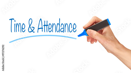Time & Attendance Concept. Canvas Print