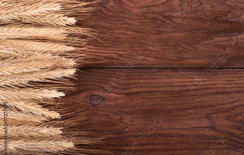 Türaufkleber Holz Wheat
