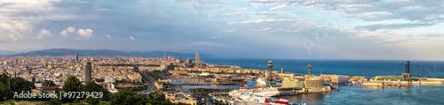 Printed kitchen splashbacks Athens Panoramic view of Barcelona