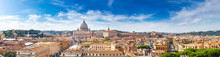 Rome And Basilica Of St. Peter...