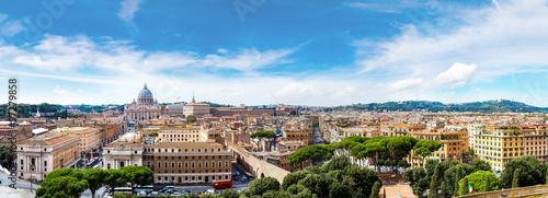 Aluminium Prints Rome Rome and Basilica of St. Peter in Vatican