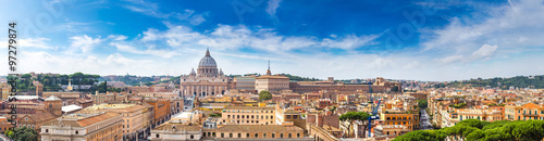 Rome and Basilica of St. Peter in Vatican Wallpaper Mural
