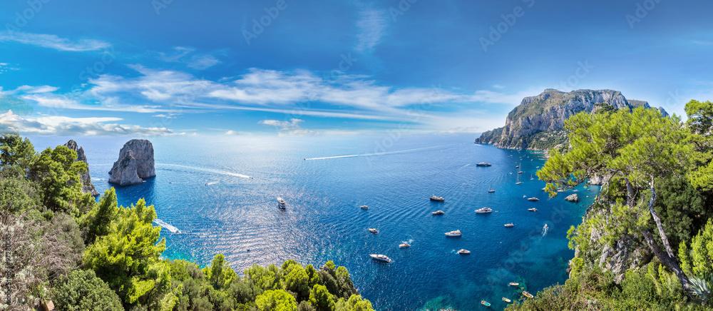 Fototapeta Capri island  in Italy